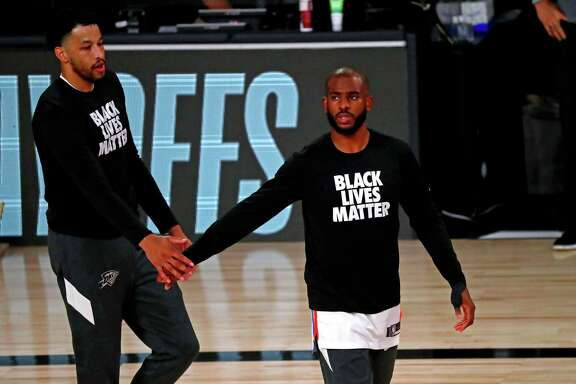 Oklahoma City's Chris Paul has wanted to keep attention on Black Lives Matter while the NBA is playing in the bubble in Orlando.