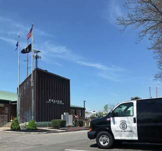 The exterior of the Milford, Conn., police station.