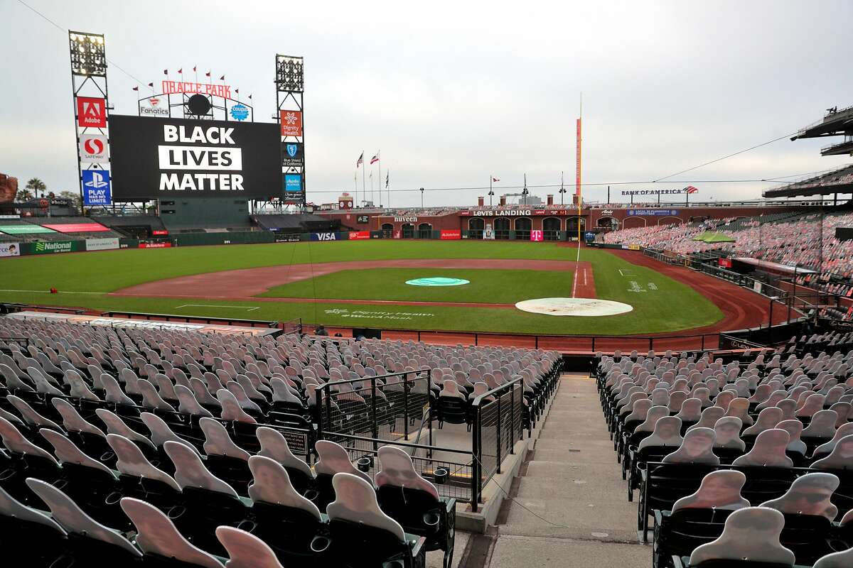 Empty Oracle Park after the game between the San Francisco Giants and the Los Angeles Dodgers was postponed in solidarity with Black Lives Matter at Oracle Park in San Francisco, Calif., on Wednesday, August 26, 2020.
