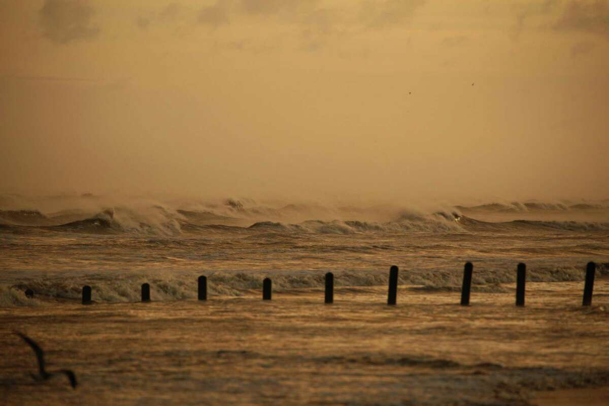 Waves move towards the shore ahead of Hurricane Laura in Sabine, Texas, U.S., on Wednesday, Aug. 26, 2020. Hurricane Laura is poised to become a Category 4 storm that could wreak catastrophic damage in Texas and Louisiana, bringing a life-threatening storm surge, flash flooding and destructive winds that could leave areas uninhabitable for weeks or months. Photographer: Luke Sharrett/Bloomberg