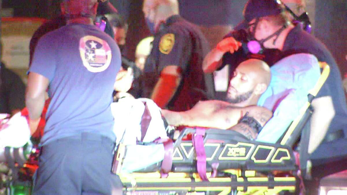 One man has been hospitalized after a shootout at a Northeast Side strip club Thursday morning.