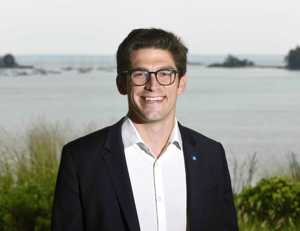 Riverside's Ryan Fazio, the Republican candidate for state senator representing District 36, poses at Cos Cob Park in the Cos Cob section of Greenwich, Conn. Tuesday, Aug. 4, 2020.