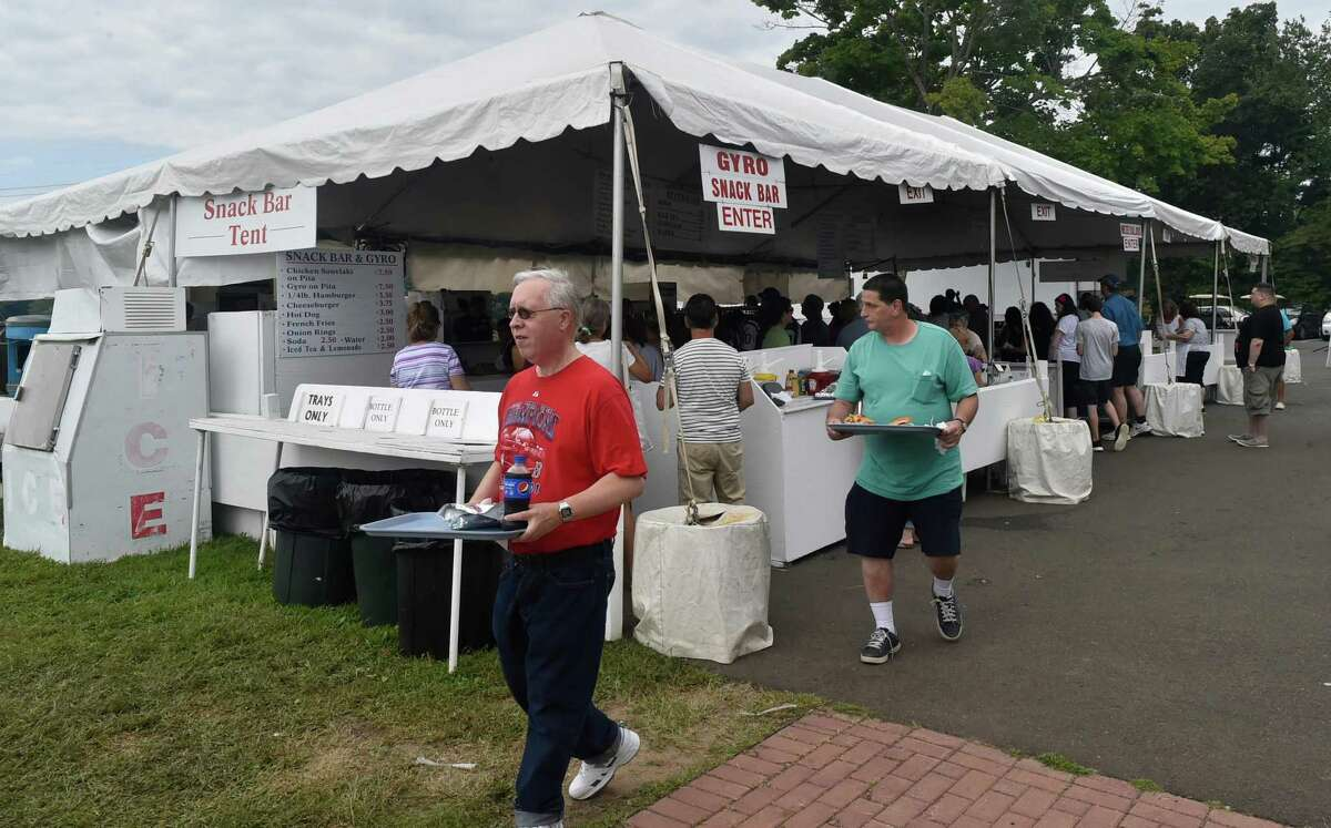 The snack bar tent at Saint Barbara Greek Orthodox Church's Odyssey festival will be replaced by curbside pickup Saturday and Sunday of Labor Day Weekend.