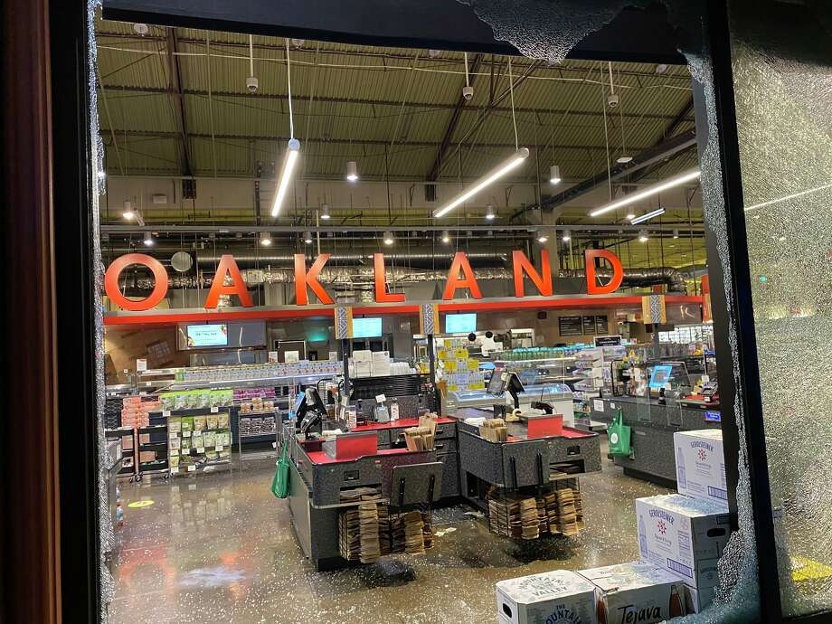 """Some """"agitators"""" in Oakland used the cover of protest to vandalize businesses, property Wednesday night. Photo: Oakland Police Department"""