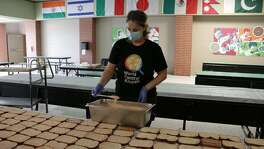 WCK's Relief Team in Beaumont, TX is in the kitchen getting hot meals & sandwiches made to take to first responders in Port Arthur and then into communities in need following Hurricane Laura in Sulphur and Lake Charles.
