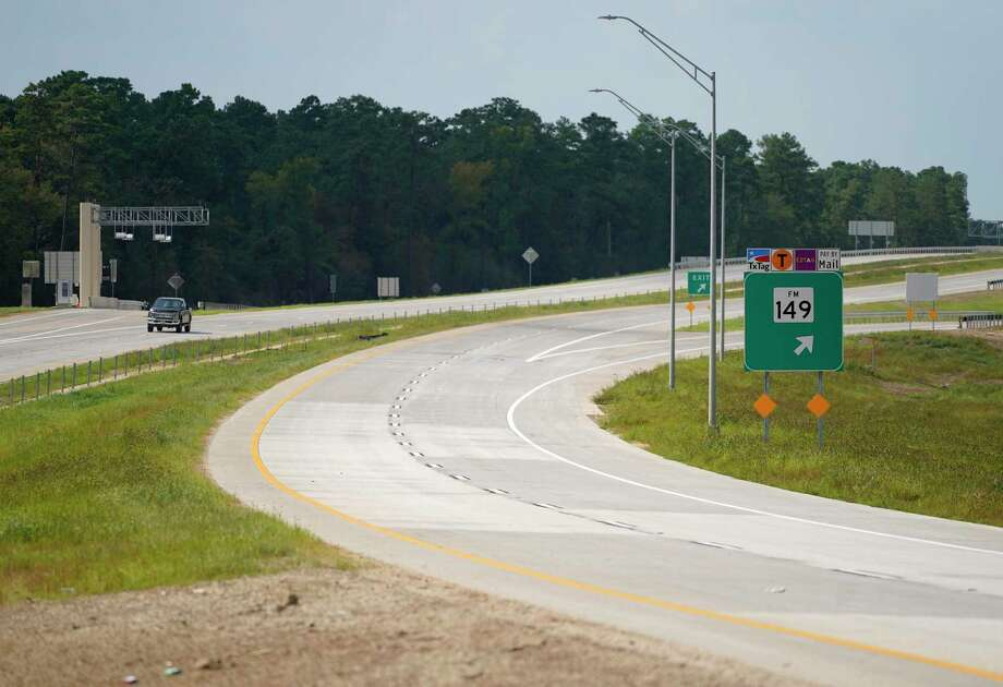 A view of the 249 Tollway at the north bound exit for FM 149 in Montgomery County is shown Thursday, Aug. 6, 2020. The section north of Tomball to FM 1488 will open on Saturday. Photo: Melissa Phillip, Houston Chronicle / Staff Photographer / © 2020 Houston Chronicle