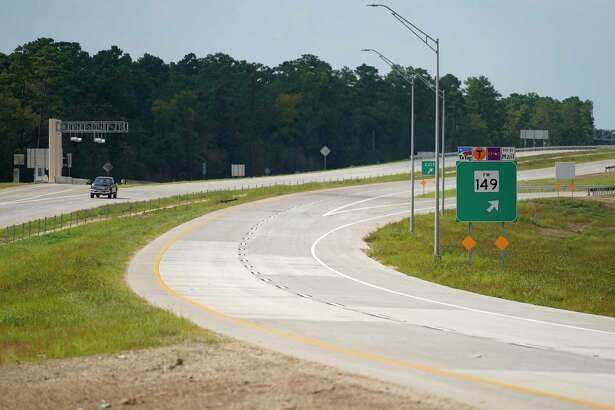 A view of the 249 Tollway at the north bound exit for FM 149 in Montgomery County is shown Thursday, Aug. 6, 2020. The section north of Tomball to FM 1488 will open on Saturday.