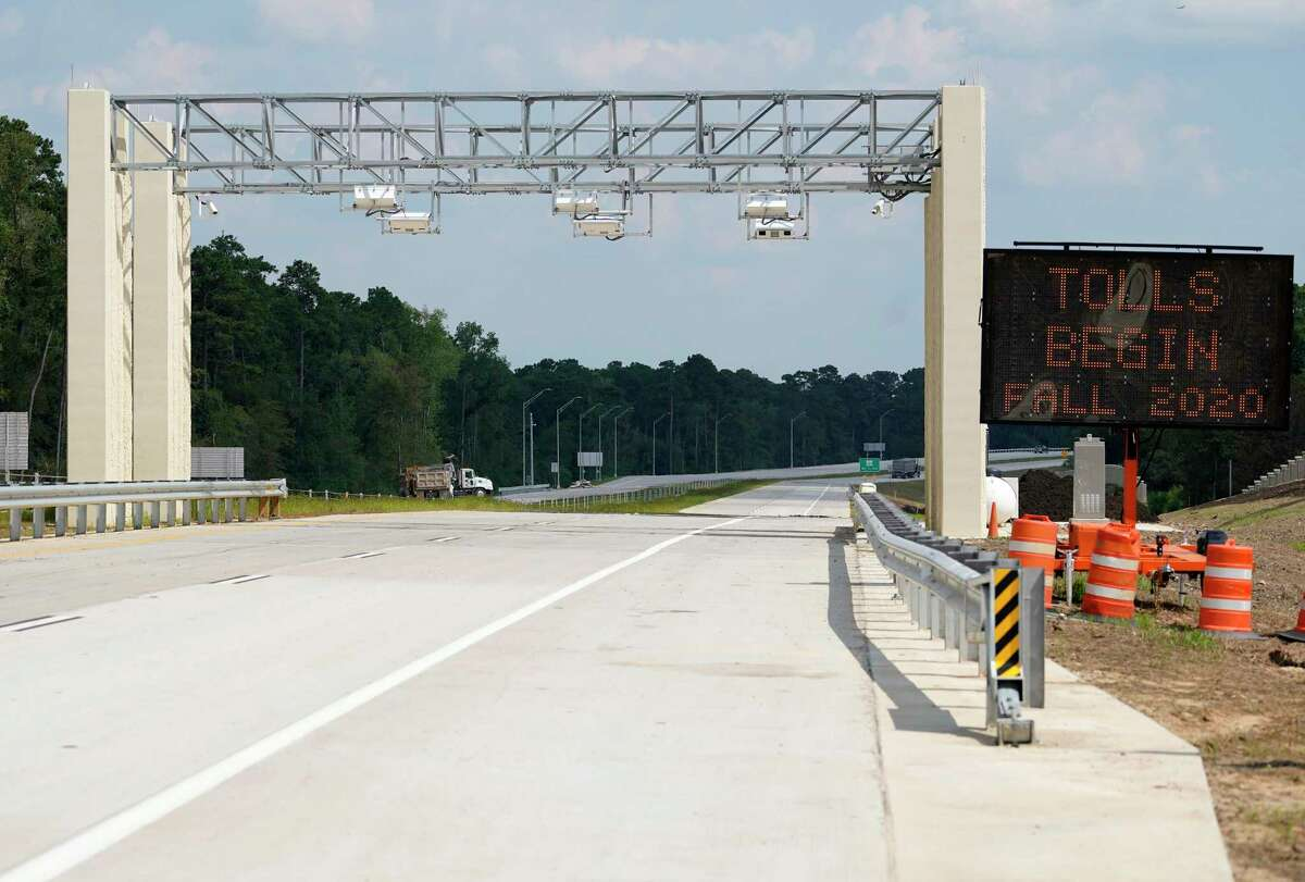 A view of TxDOT toll plaza on the south bound of 249 Tollway in Montgomery County is shown Thursday, Aug. 6, 2020. The section north of Tomball to FM 1488 will open on Saturday.