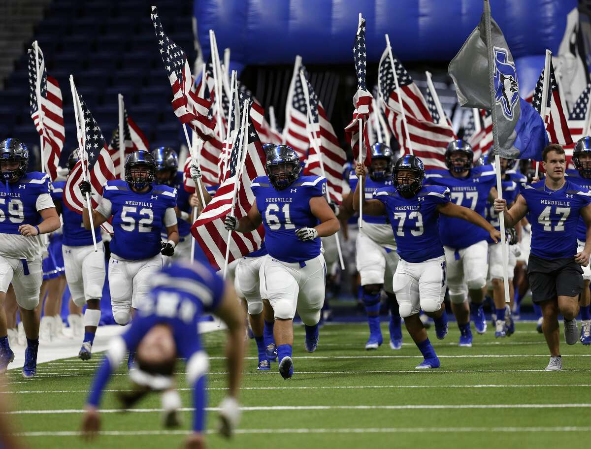 Needville football team enters the field to play Lampasas on Saturday, Nov. 30,2019 at the Alamodome
