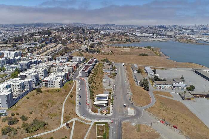 Aerial photo of Hunter's Point from 300', the same perspective as a helicopter that was used to conduct a scan of the area for a radiation survey in San Francisco, Calif., on Wednesday, August 5, 2020.