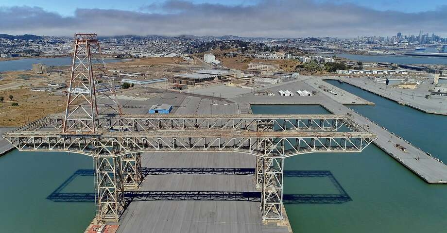 Aerial photo of Hunter's Point from 300', the same perspective as a helicopter that was used to conduct a scan of the area for a radiation survey in San Francisco, Calif., on Wednesday, August 5, 2020. Photo: Carlos Avila Gonzalez / The Chronicle