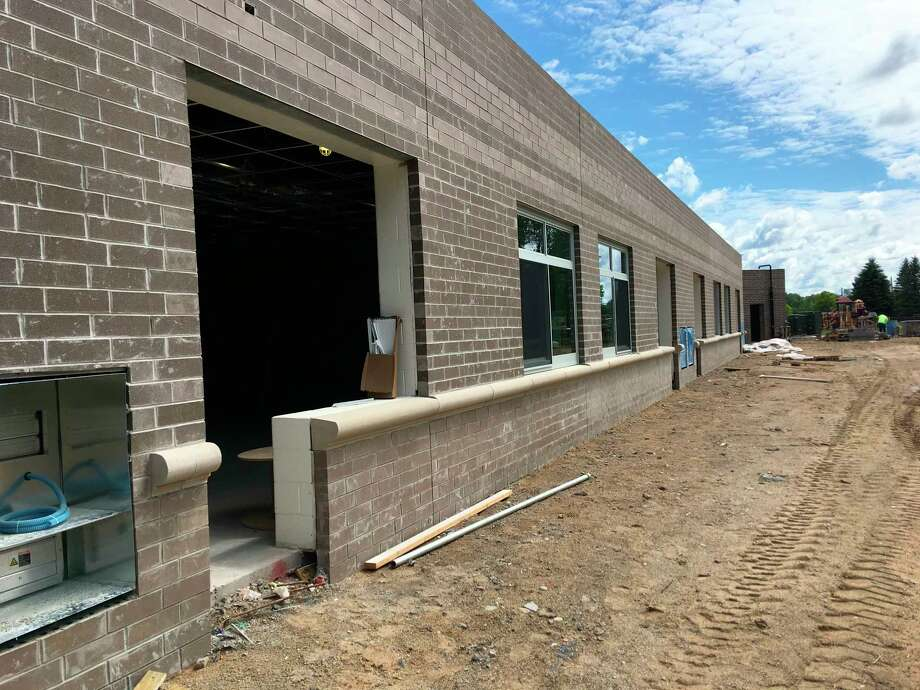 Pictured is the exterior of the new Barryton elementary building. CHSD Superintendent Bob Grover said completing the exterior before the winter is the school district's main focus right now. (Courtesy photo)