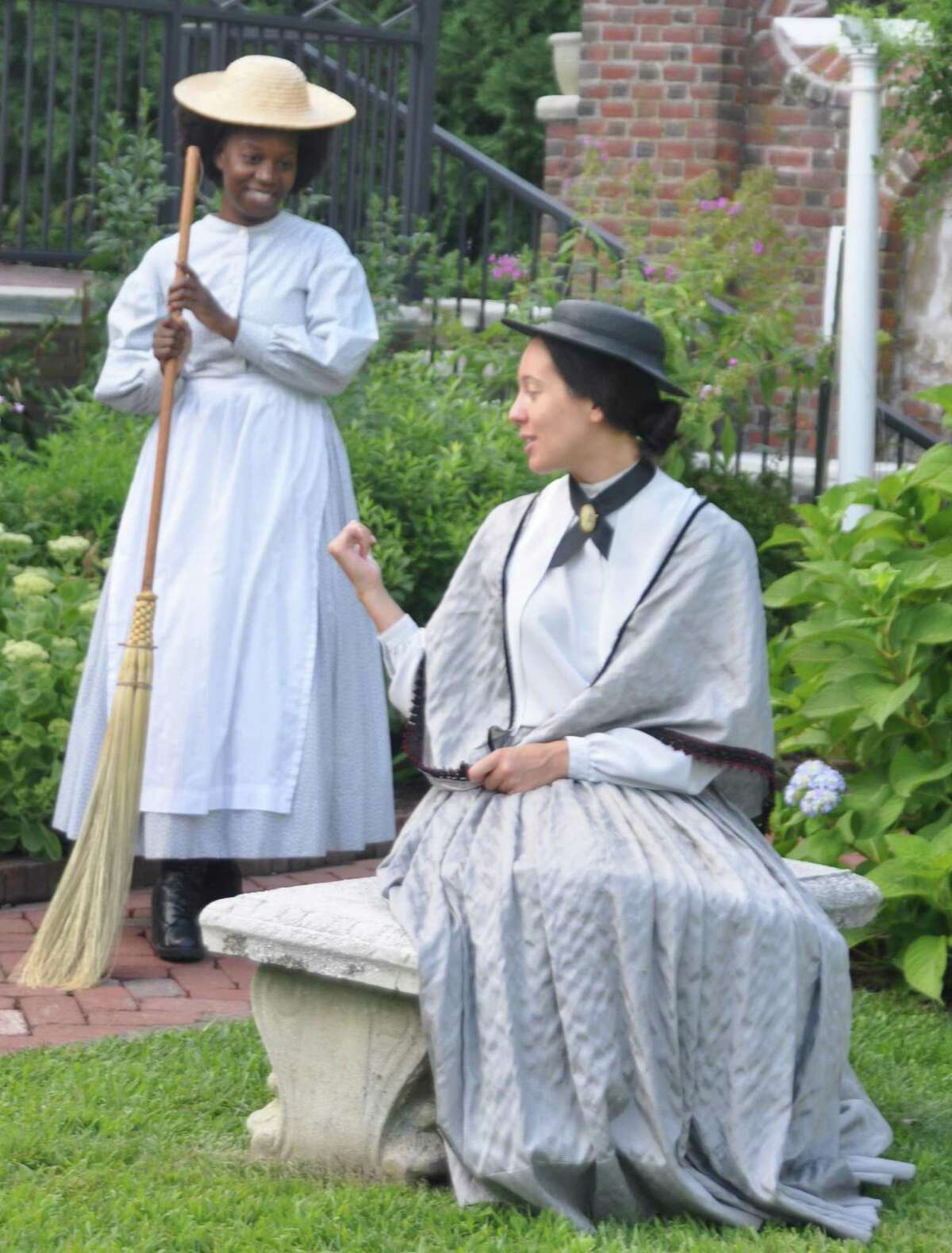 Valerie Brookshire plays Phillis DuBois and Catherine Luciani plays Anna Marie Resseguie in