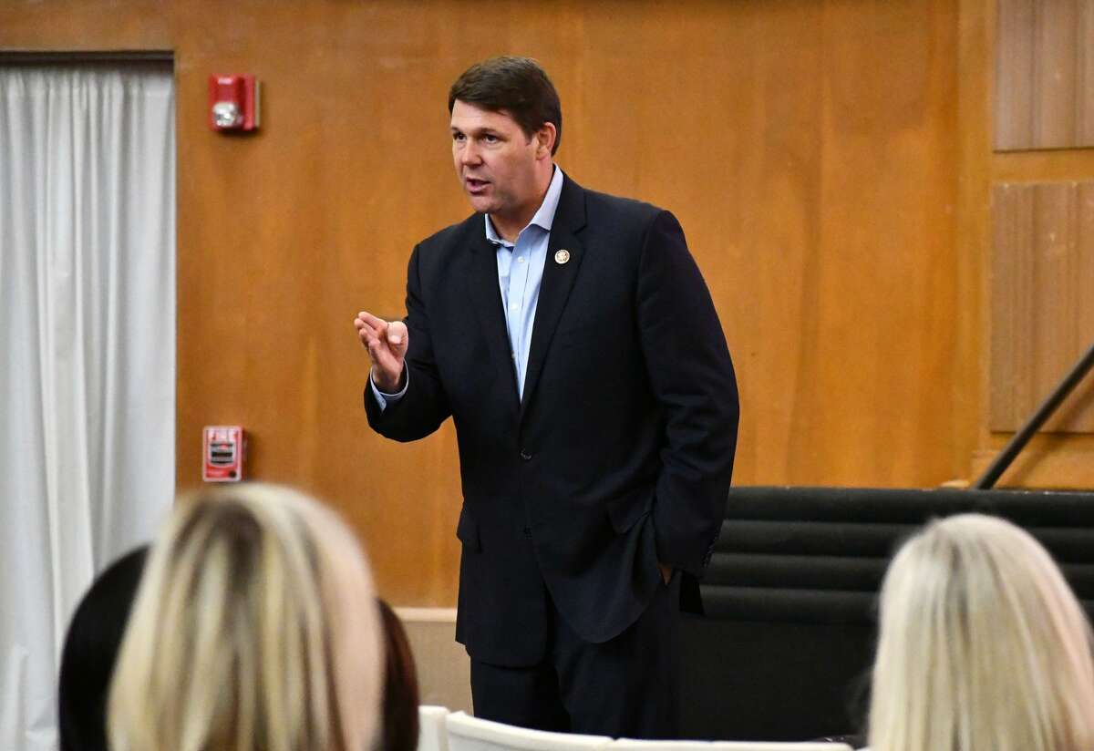 Congressman Jodey Arrington spent some time talking to teachers this week during a recent visit to Plainview on Tuesday, Aug. 25, 2020.