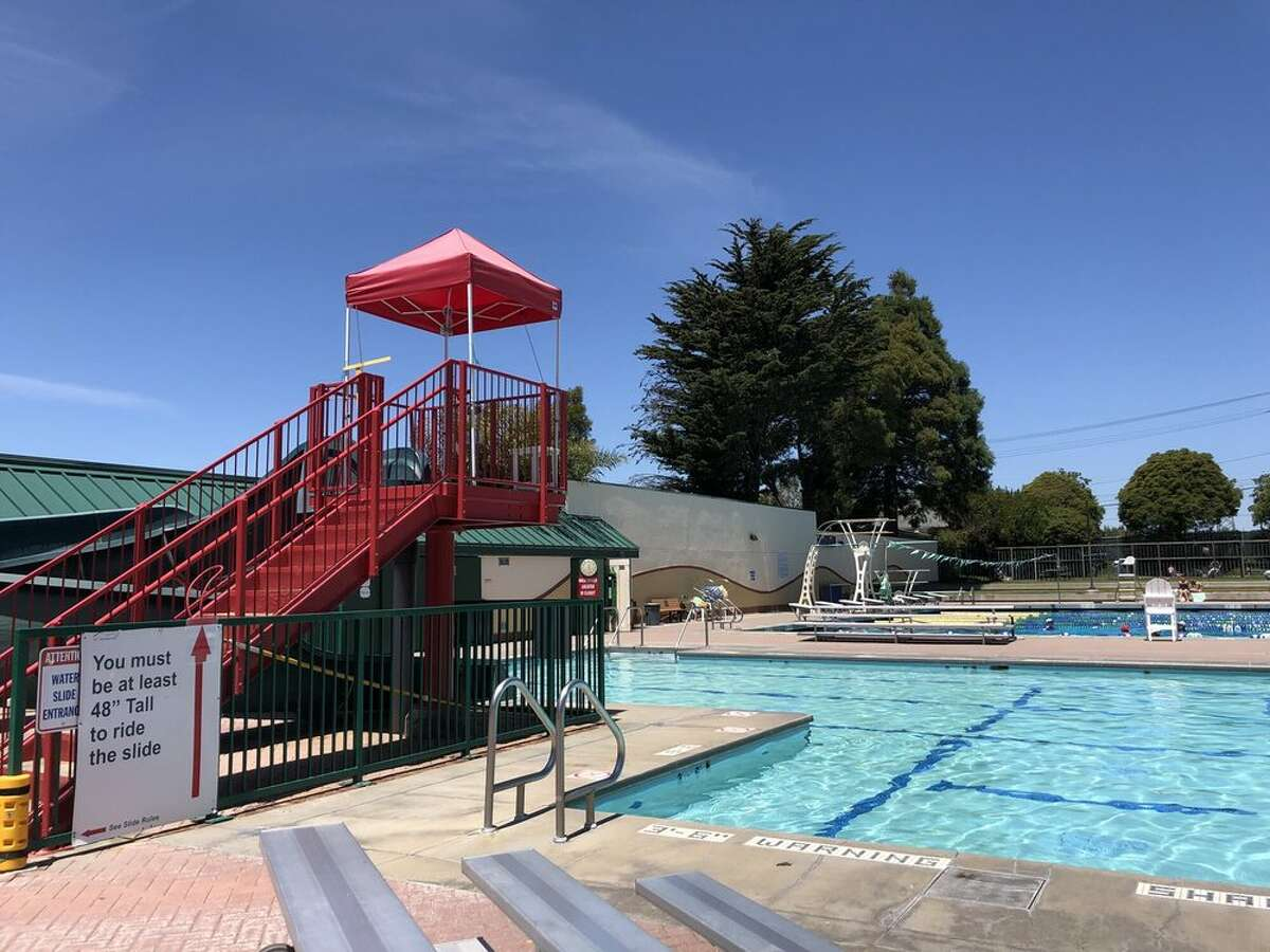 Beyond the main pool, the El Cerrito Swim Center offers a splash pad and a shallow pool with fountain for tiny tot splashing and even has heated floors in the locker room. The pool is currently open for lap swimming, water walking and independent exercise by reservation. The activity pool and water slide are still closed, however. To swim, you will have to reserve a lane by logging into the online reservation system (which they warn is