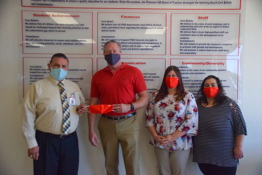 Jim Landtroop donated masks to Plainview ISD this week. Photo: Provided By The Landtroop Group