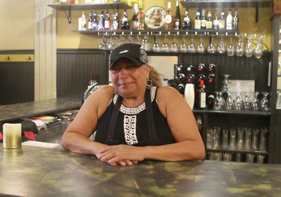 Nawal Braden Swart, owner of Nawal's Mediterranean Grille, said she loves owning a business in Big Rapids and is always excited to see new, local faces coming into the restaurant. (Pioneer photo/Taylor Fussman)