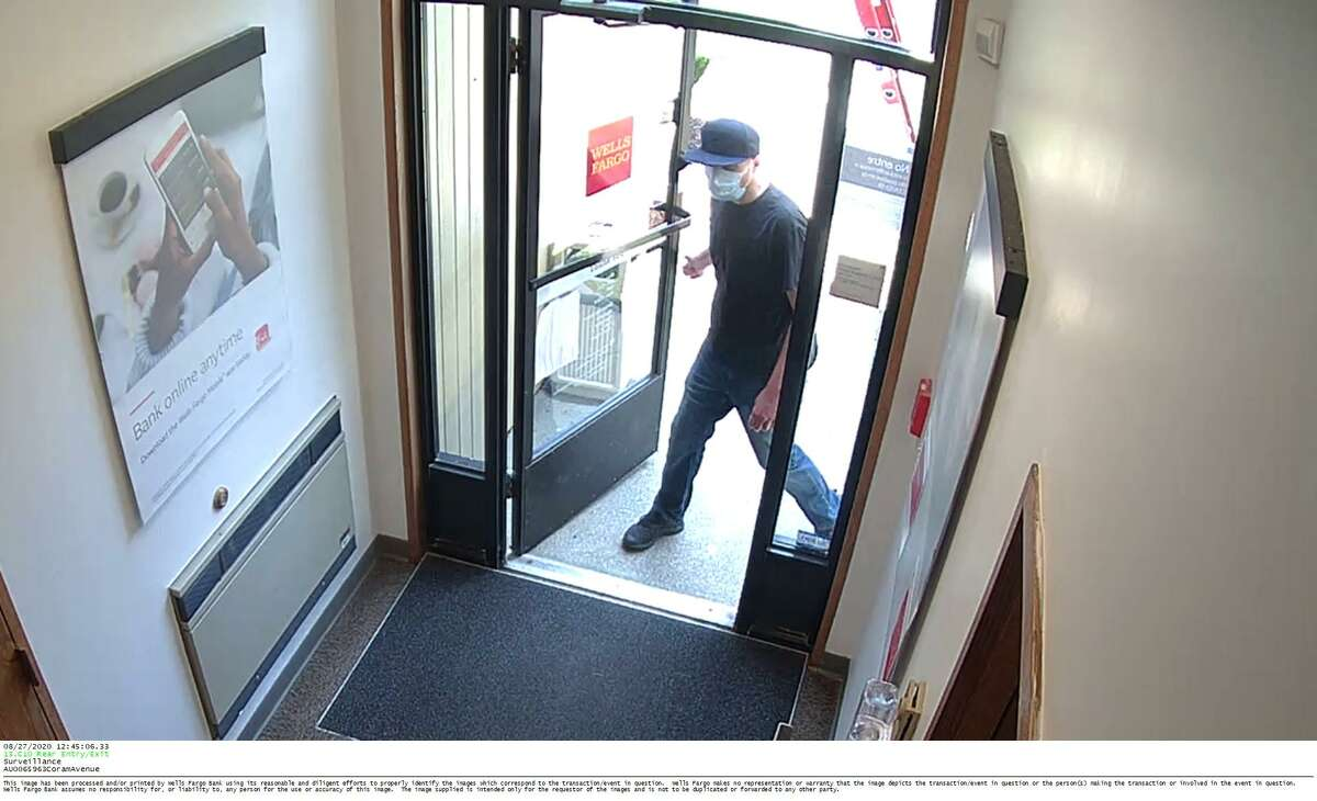 Police are looking to identify the individual in the surveillance photo above. Police said the individual is a suspect in a bank robbery at Wells Fargo Bank, 320 Coram Ave., Thursday.