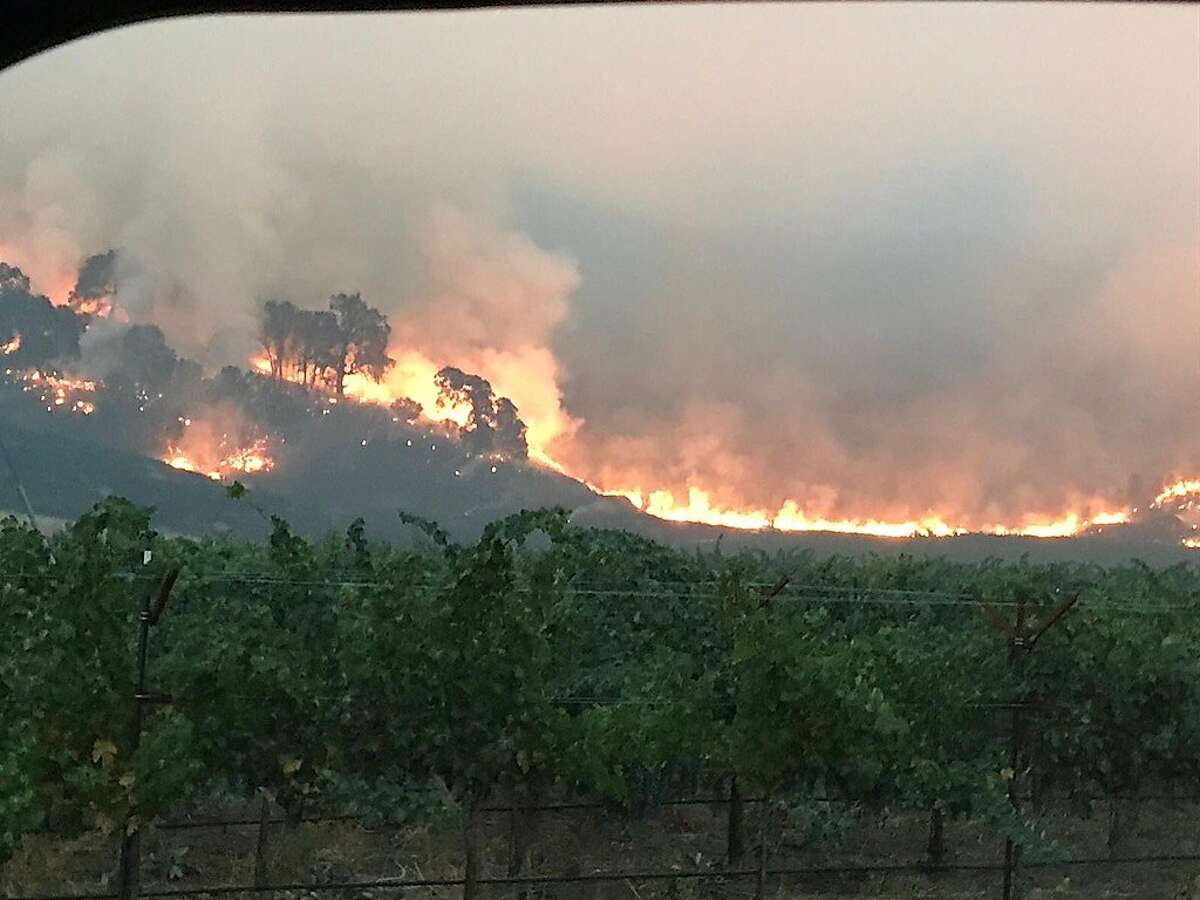 Shots of Pope Valley on fire, in eastern Napa County, during the LNU Lightning Complex fires.
