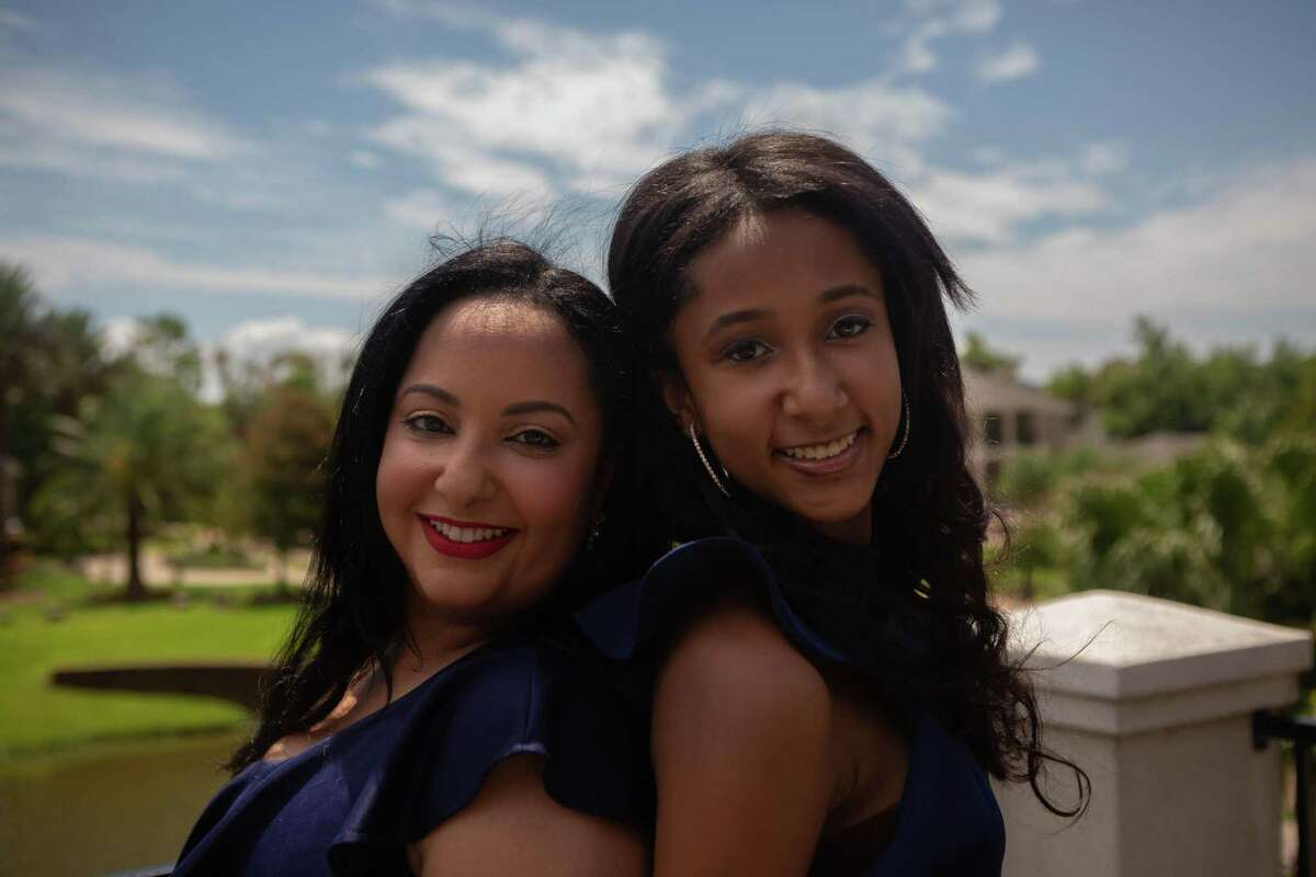 Space toxicologist Noreen Khan-Mayberry poses with her daughter, Nicole, at their home in Missouri City. As a multi-racial woman, Khan-Mayberry been pressured to pick and identify with just one ethnicity. Nicole Mayberry, 14, who was crowned the first Teen Universe Pre-Teen Texas 2020 in May. She'll compete in the national finals in Orlando.