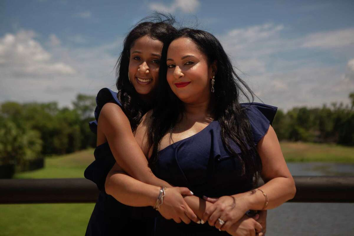 Space toxicologist Noreen Khan-Mayberry poses with her daughter at her home in Missouri City. As a multi-racial woman, Khan-Mayberry been pressured to pick and identify with just one ethnicity.