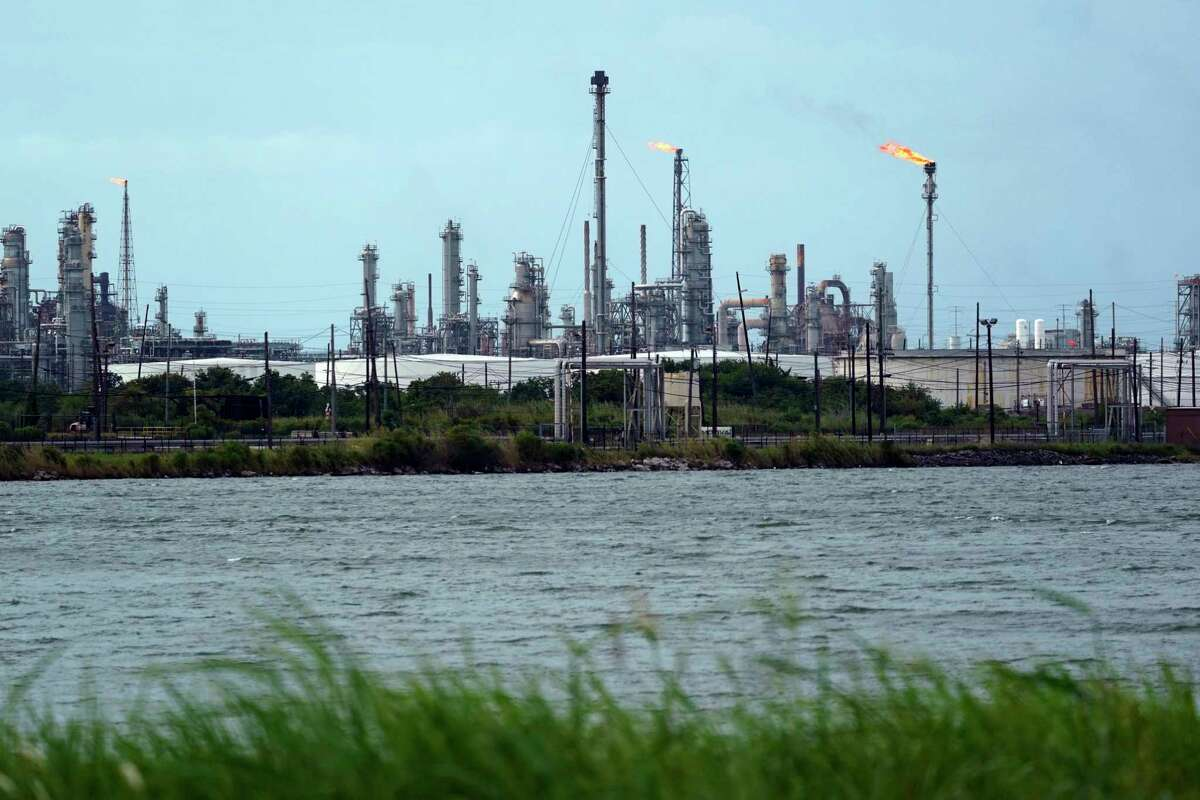 Large refineries in Port Arthur and Beaumont.