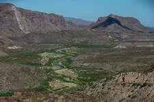 The Rio Grande flows in Colorado Canyon in Big Bend Ranch State Park.