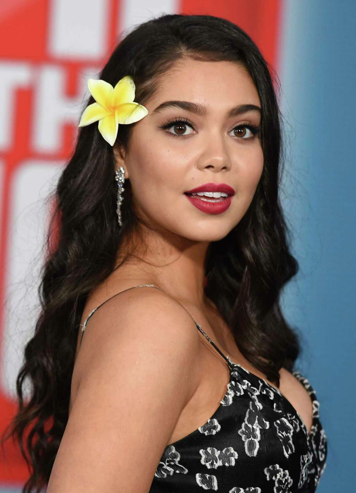 """FILE - Auli'i Cravalho arrives at the Los Angeles premiere of """"Ralph Breaks the Internet"""" on Nov. 5, 2018. Cravalho stars in the Netflix film """"All Together Now."""" (Photo by Jordan Strauss/Invision/AP, File)"""