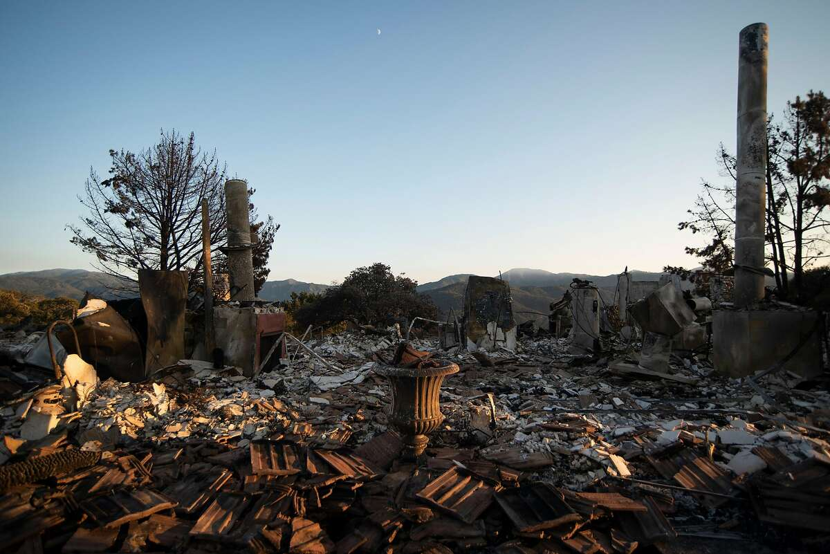 The remains of a home affected by the Carmel Fire at Sky Ranch, Carmel Valley on Aug. 25, 2020.