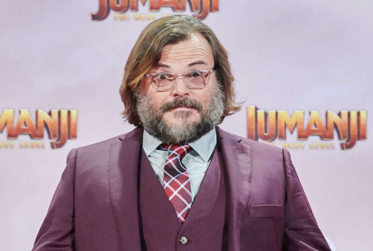 """04 December 2019, Berlin: Actor Jack Black comes to the German premiere of the movie """"Jumanji: The next Level"""". Cinema release is 12 December. Photo: Annette Riedl/dpa (Photo by Annette Riedl/picture alliance via Getty Images)"""