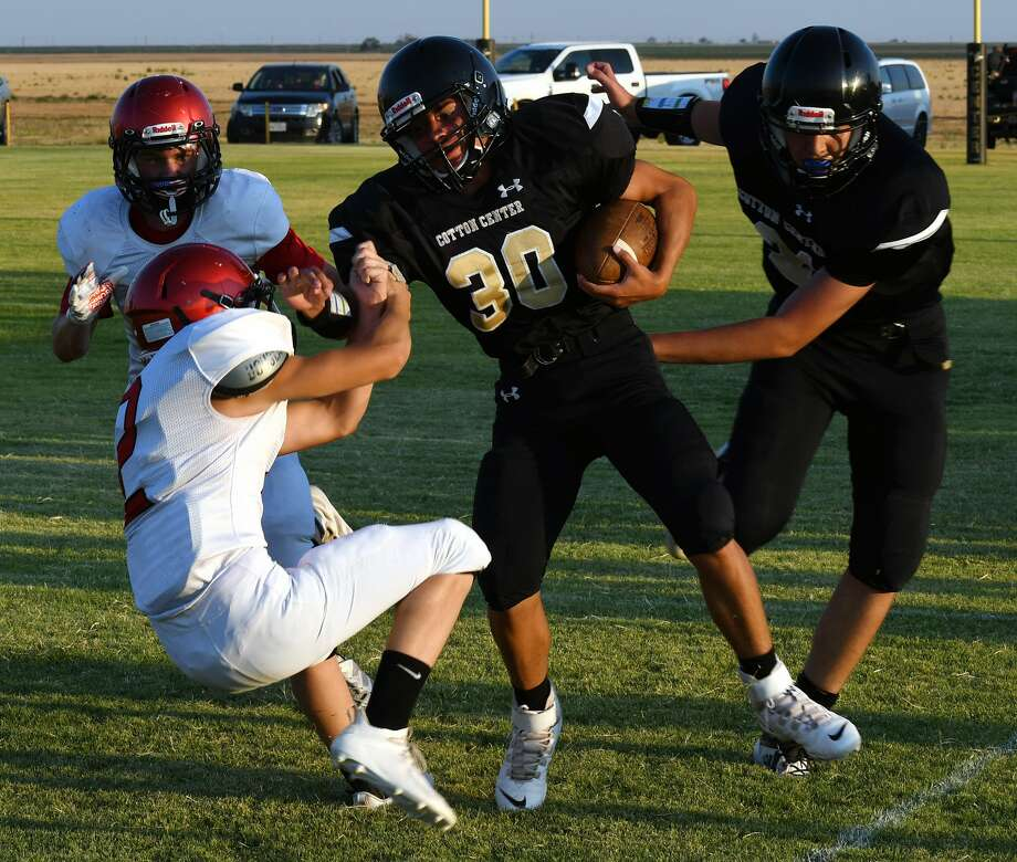 The Cotton Center football team snapped a 29-game, nearly three-year losing streak by defeating Southland 49-44 on Thursday, Aug. 27, 2020 at Cotton Center. Photo: Nathan Giese/Planview Herald