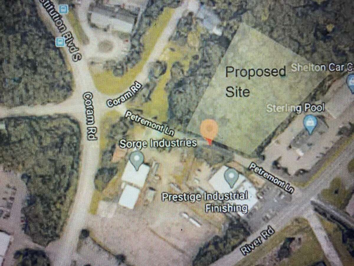 An aeriel map of the area surrounding the proposed apartment complex development on Petremont Lane.