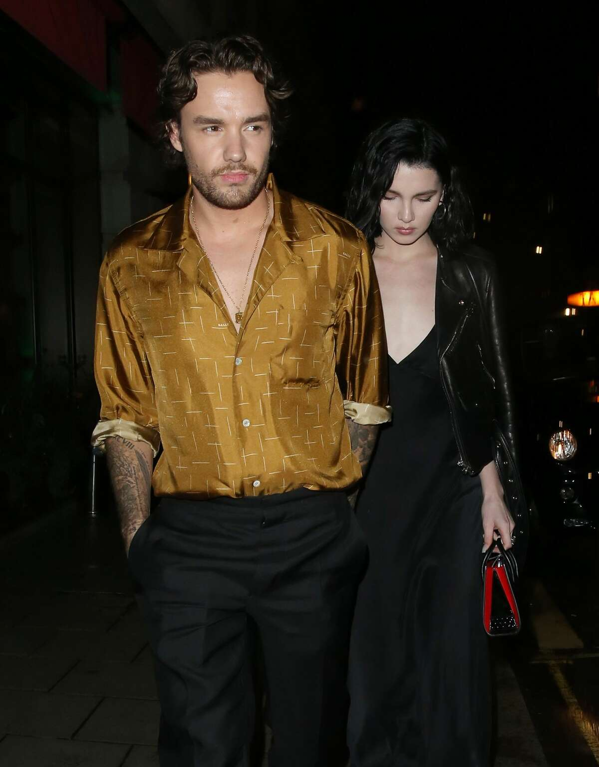 LONDON, ENGLAND - AUGUST 27: Liam Payne and Maya Henry are seen leaving Novikov restaurant on August 27, 2020 in London, England. (Photo by Dan/Will/MEGA/GC Images)
