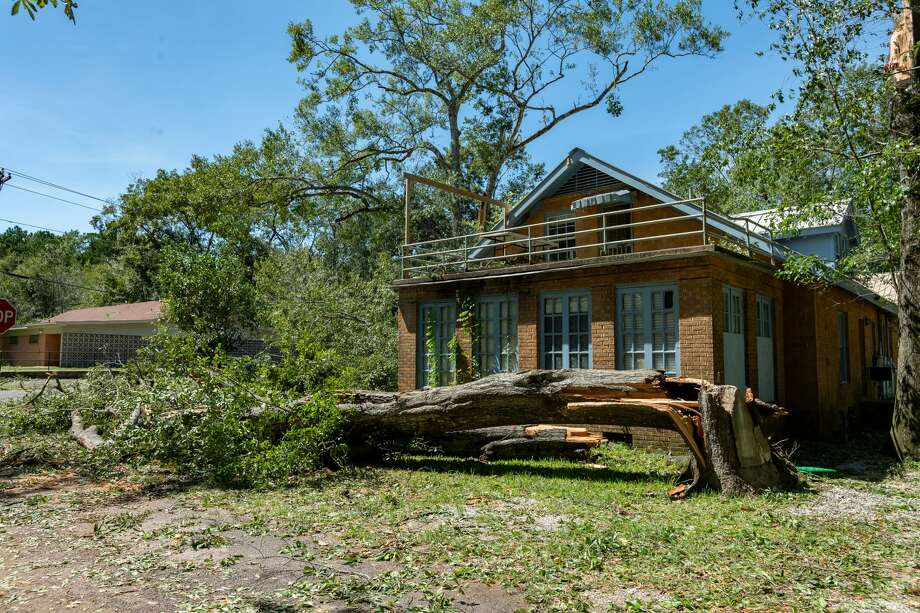 While not as much as predicted, Hurricane Laura had a big impact on Southeast Texas. Photo made on August 27, 2020. Fran Ruchalski/The Enterprise Photo: Fran Ruchalski/The Enterprise / © 2020 The Beaumont Enterprise
