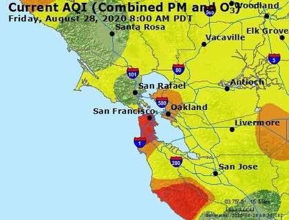 Air Quality Worsens In Parts Of Bay Area What S The Weekend Weather Outlook Sfchronicle Com This map shows cities, towns, highways, main roads, secondary roads in san francisco bay area. air quality worsens in parts of bay