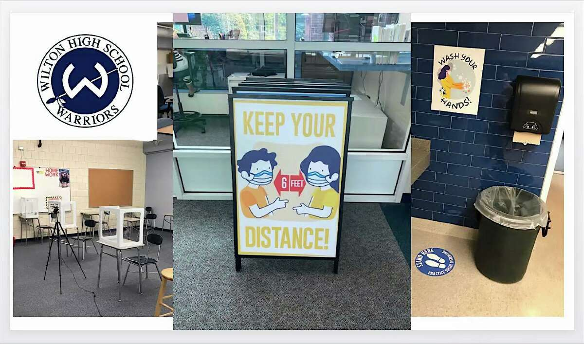 A look at Wilton High School set up for reopening, as presented to the Board of Education on Aug. 27, 2020.