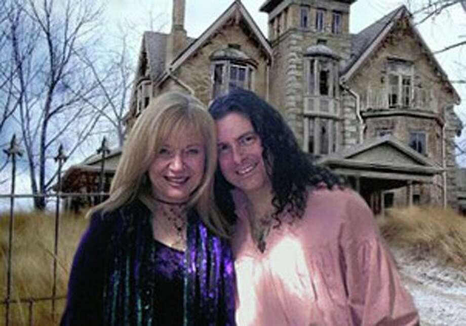 Tom D'Agostino and Arlene Nicholson in front of an undisclosed haunted location. Photo: Contributed Photo