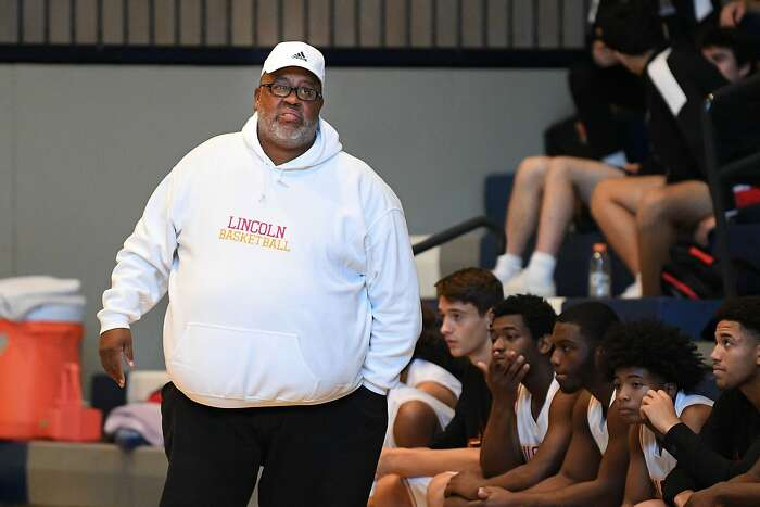 Lincoln basketball coach Carl Jacobs