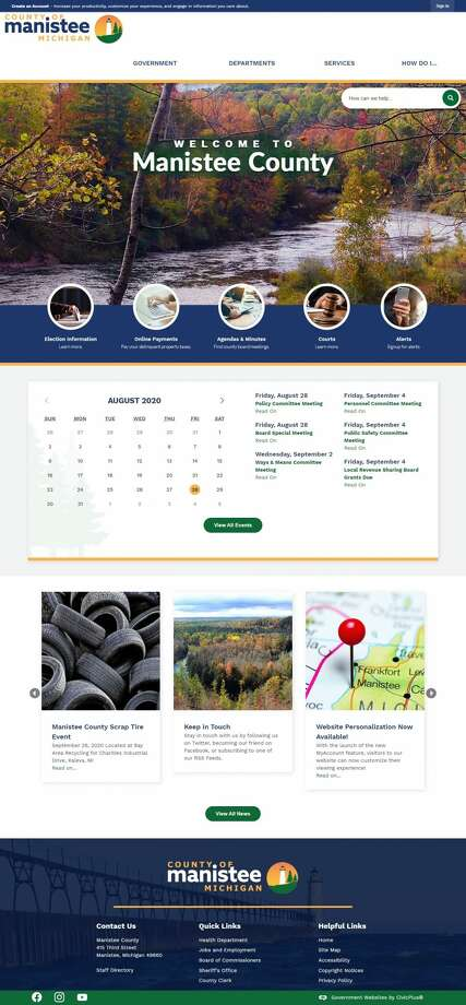 Manistee County has recently launched an updated version of their website which boasts improved functionality and new features. Photo: Courtesy Photo