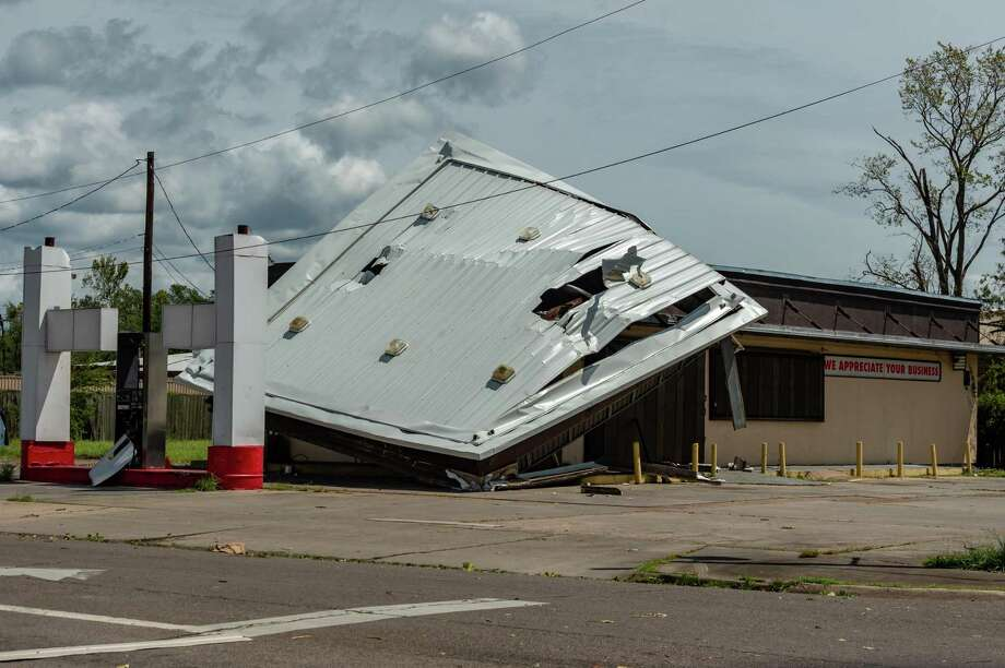 While not as much as predicted, Hurricane Laura had a big impact on Southeast Texas. Photo made on August 27, 2020. Fran Ruchalski/The Enterprise Photo: Fran Ruchalski, The Enterprise / The Enterprise / © 2020 The Beaumont Enterprise
