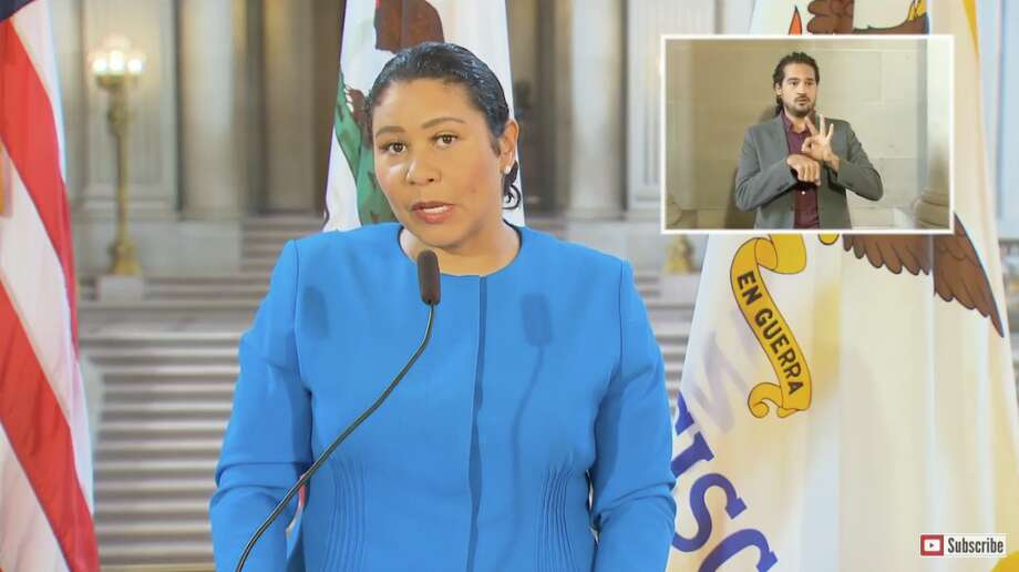 Mayor London Breed gives a coronavirus update to the City of San Francisco on August 28, 2020. Photo: SF Gov
