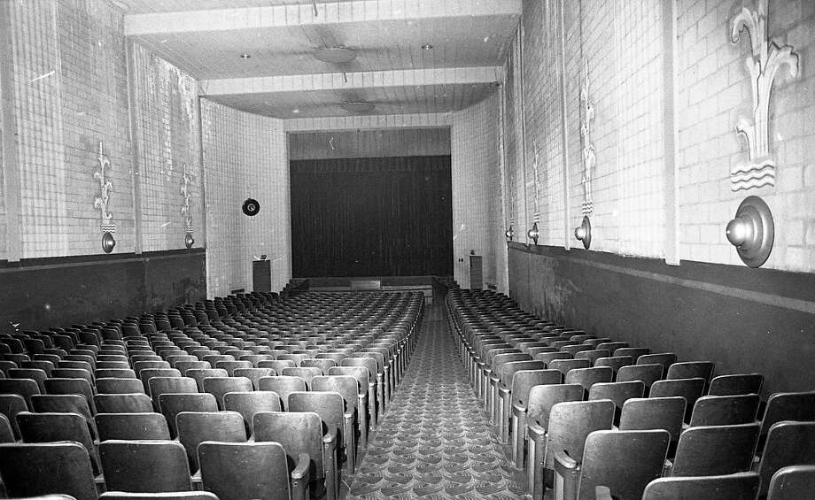 A view of the original auditorium of the Vogue Theatre in 1982. (Manistee County Historical Museum photo)