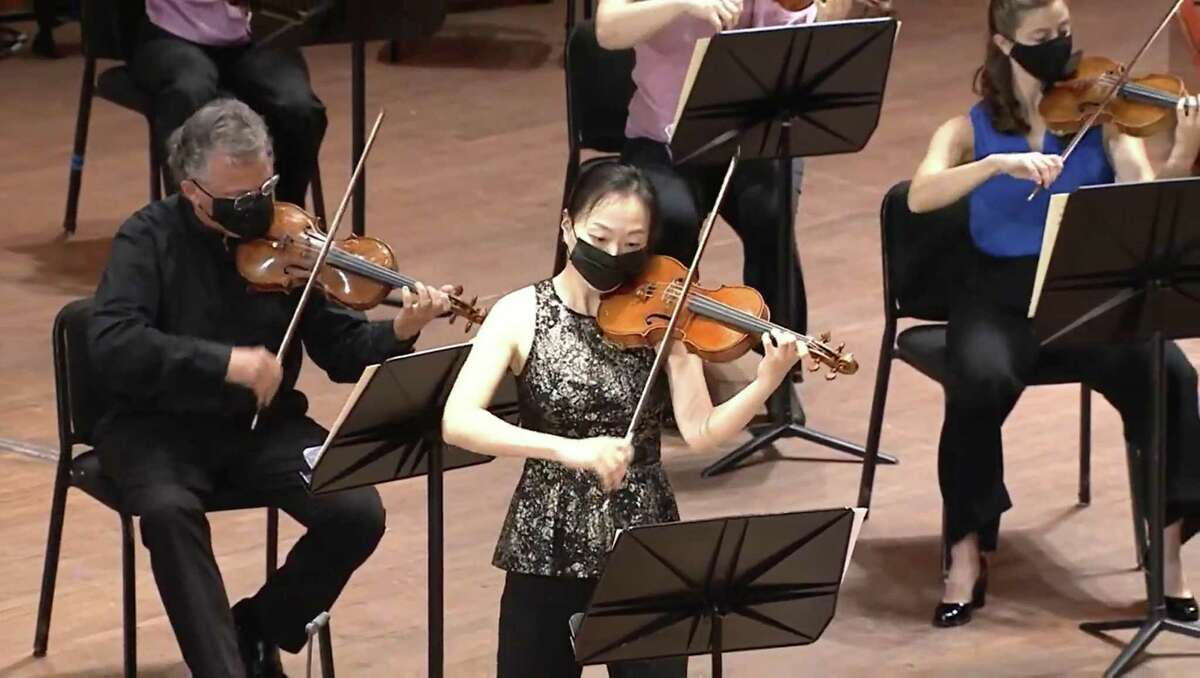 The Houston Symphony partnered up with Rice University to study safe social distance for musicians.