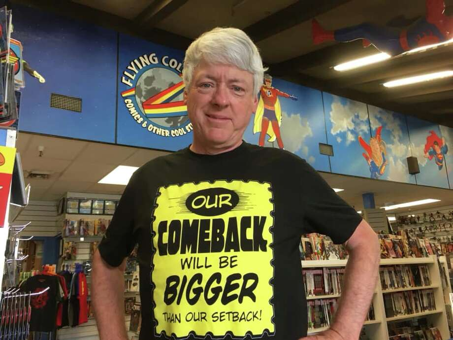 Joe Field of Flying Colors Comics & Other Cool Stuff in Concord contracted COVID-19, forcing him to temporarily close his business. Photo: Courtesy Of Flying Colors Comics