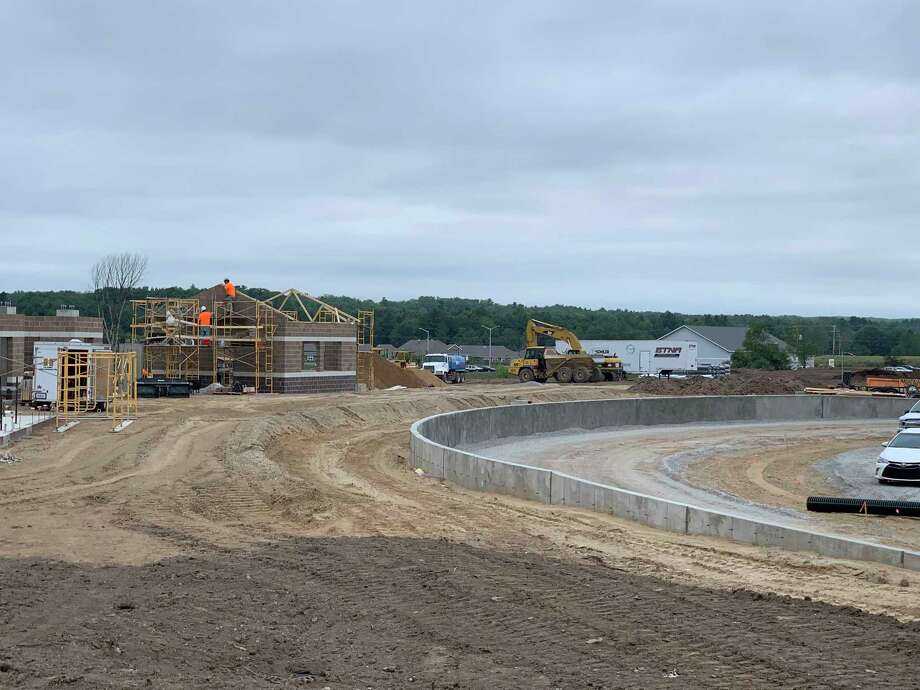 Big Rapids Public Schools continue to make progress on its multi-purpose track and field. The construction project is expected to be completed by October. (Courtesy photo)