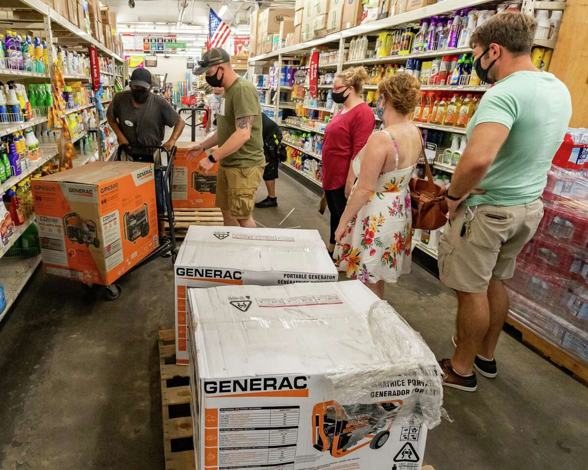 Customers were waiting to buy generators that had just arrived at M&D Supply. With two storms churning in the Gulf of Mexico, folks in Southeast Texas were out picking up what they may need if the bad weather hits the area. Photo made on August 22, 2020. Fran Ruchalski/The Enterprise