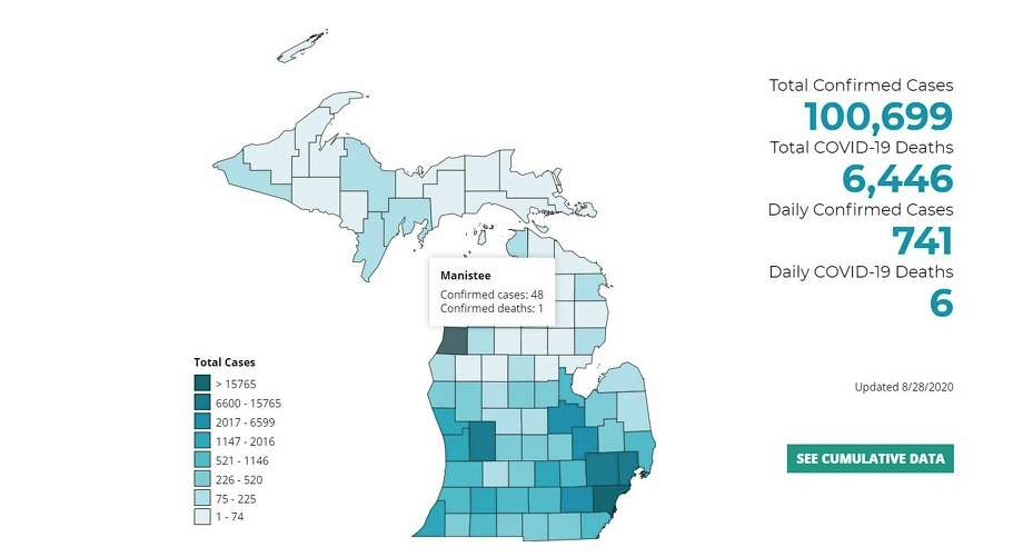 Manistee County had three new COVID-19 cases confirmed on Friday. (Courtesy image)