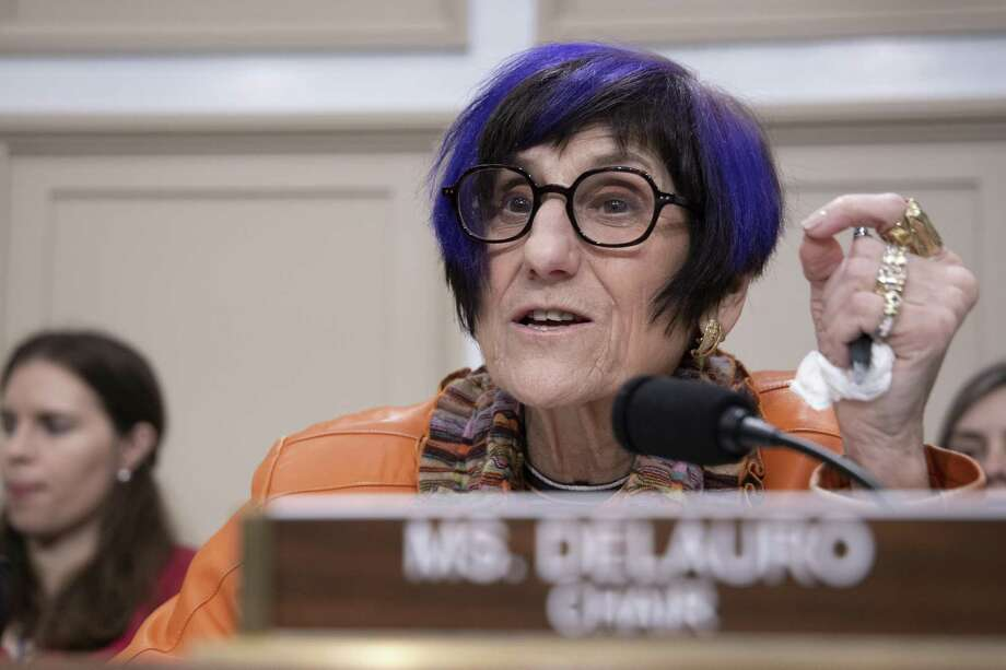 WASHINGTON, DC - FEBRUARY 26: Chair of the House Appropriations Subcommittee on Labor, Health and Human Services, and Education Rep. Rosa DeLauro (D-CT) speaks during testimony by HHS Secretary Alex Azar on February 26, 2020 in Washington, DC. Secretary Azar told senators on Tuesday that the U.S. could need 270 million more face masks to fight the new coronavirus if there is a domestic outbreak. (Photo by Tasos Katopodis/Getty Images) Photo: Tasos Katopodis / Getty Images / 2020 Getty Images