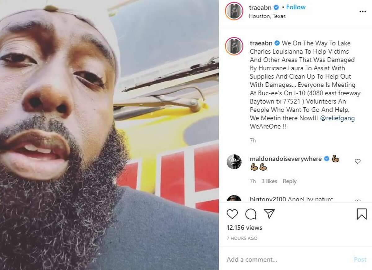 Fearless and compassionate in the face of any disaster striking Houston, Trae the Truth stands up to the challenge when his home or his neighbors are threatened. When Hurricane Laura decimated parts of Lousiana, Trae mobilized the