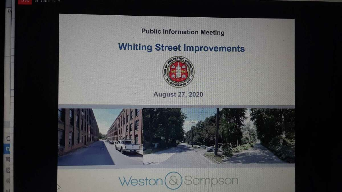 Residents joined the Winchester Public Works Department, the Planning & Zoning Commission and a design team to discuss the Whiting Street improvement project, which is funded by a state grant.